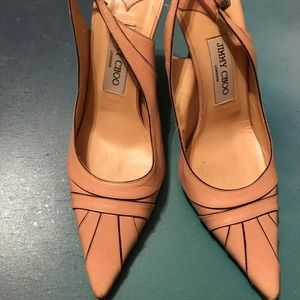 Jimmy Choo pink leather heels 39/9 please read